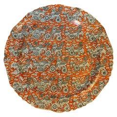 """19th Century English Ashworth Mason's Ironstone Charger """"Bandana Dragon"""" Pattern"""