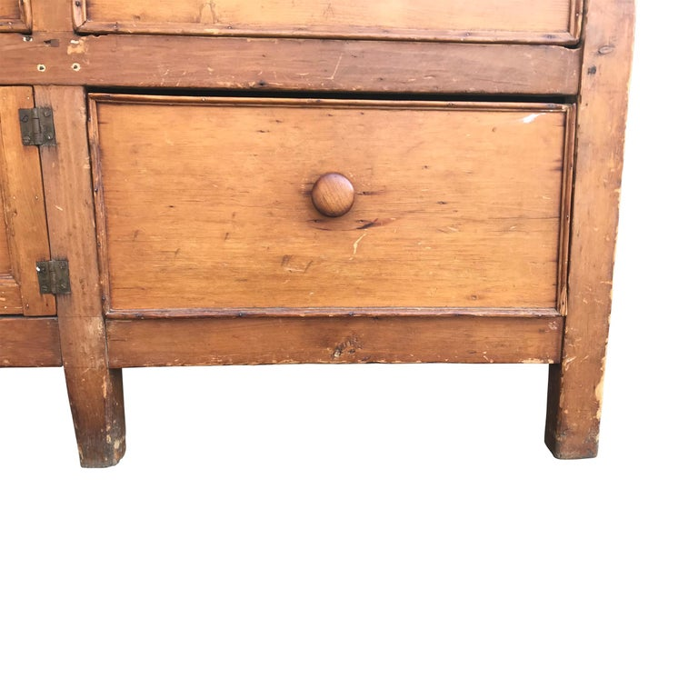 British 19th Century English Baker's Cabinet For Sale