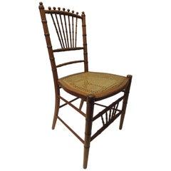 19th Century English Bamboo and Rattan Ballroom Chair