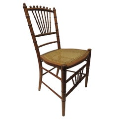 Bamboo and Rattan Honey Color Ballroom Chair