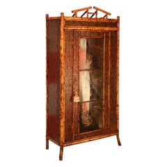 Superb 19th Century English Bamboo Armoire
