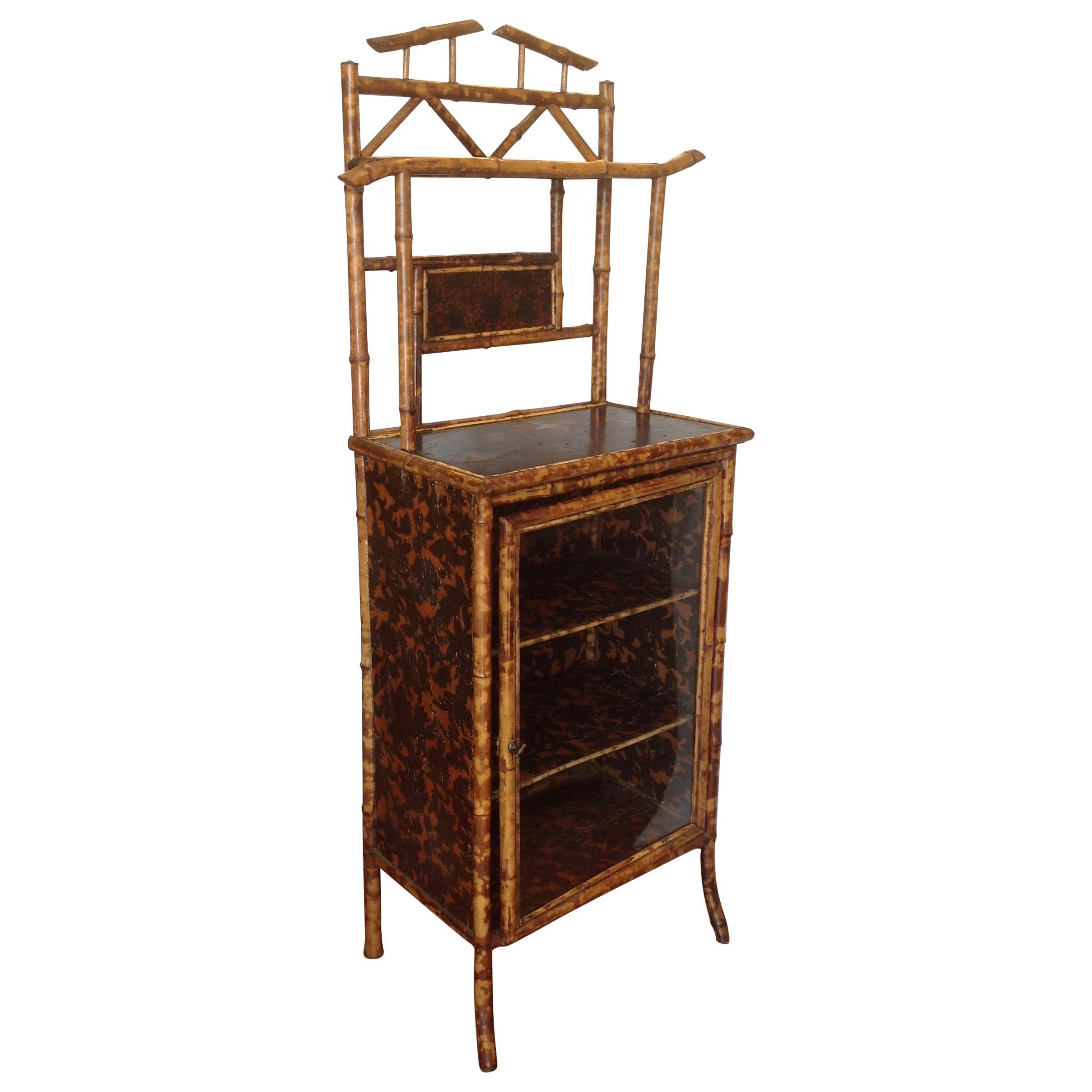 19th Century English Bamboo Bookcase / Cabinet