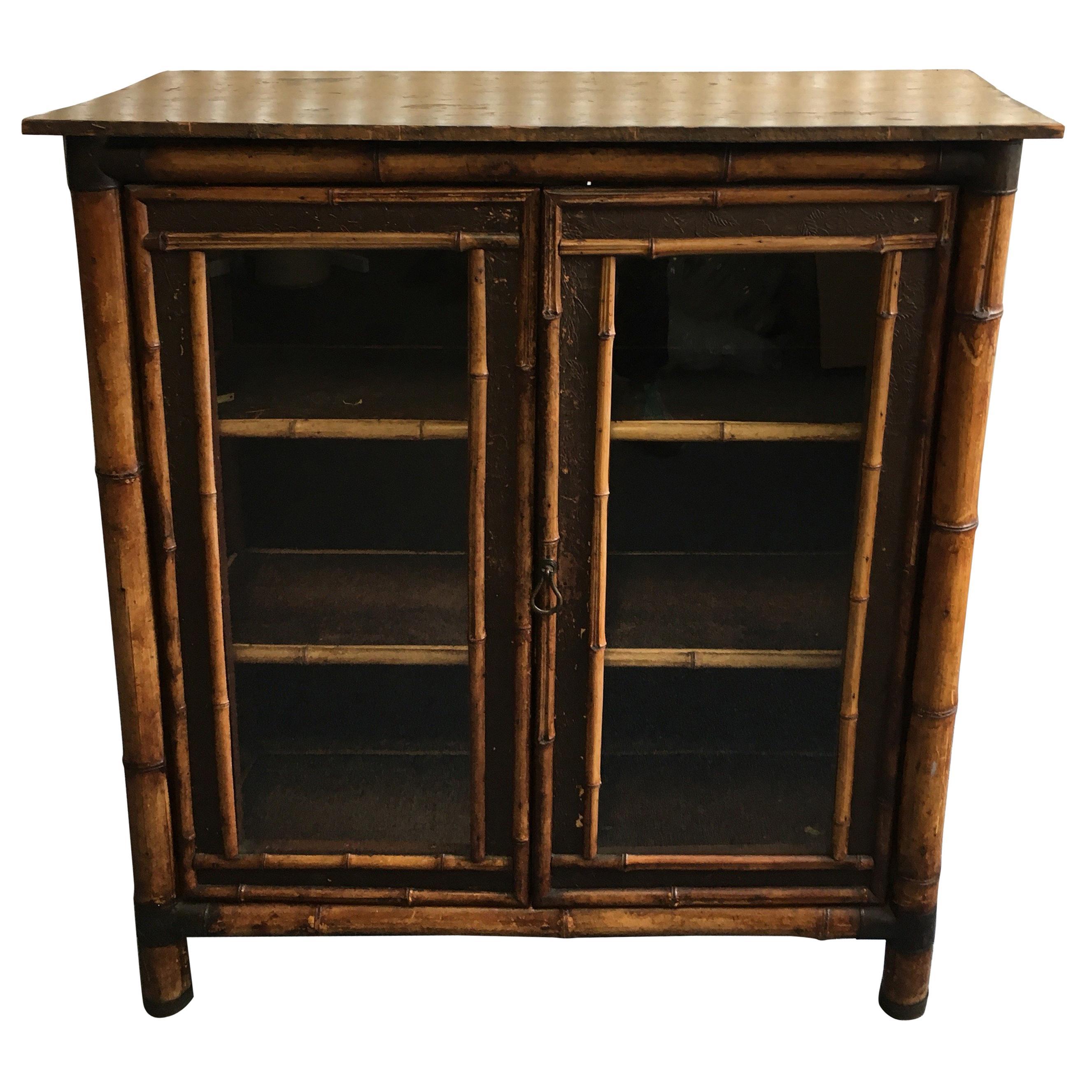 19th Century English Bamboo Bookcase