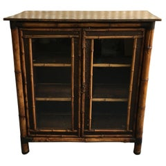 19th Century English Bamboo Bookcase