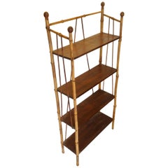19th Century English Bamboo Bookstand / Étagère