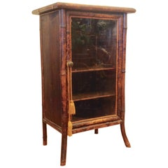 19th Century English Bamboo Cabinet