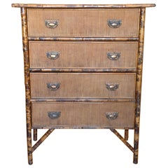 19th Century English Bamboo Chest of Drawers