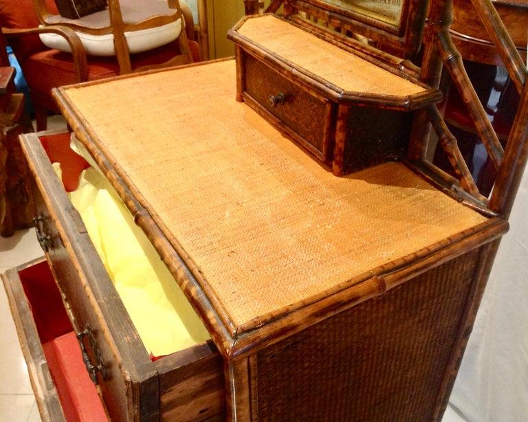 19th Century English Bamboo Cottage Dresser 6