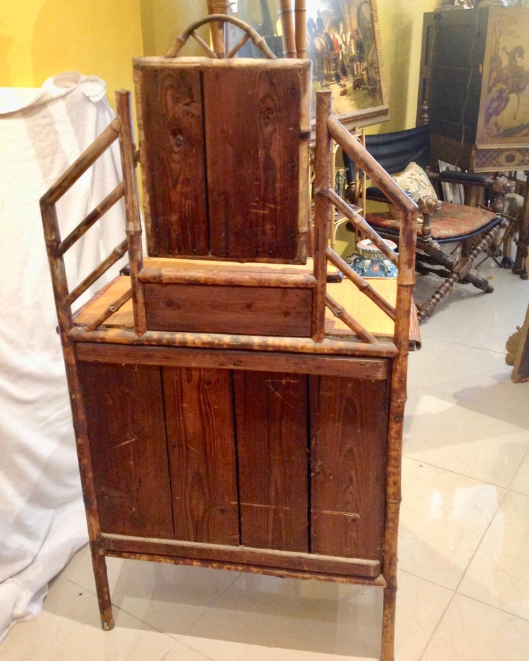 19th Century English Bamboo Cottage Dresser 10