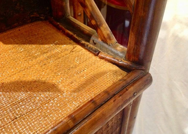 19th Century English Bamboo Cottage Dresser 11