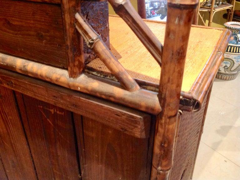 19th Century English Bamboo Cottage Dresser 14