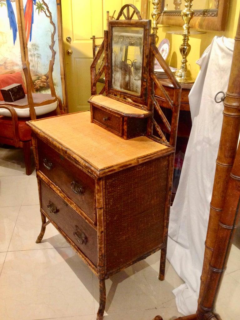 19th Century English Bamboo Cottage Dresser 3