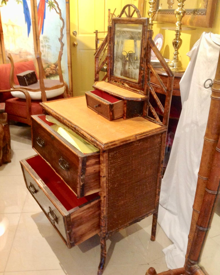 19th Century English Bamboo Cottage Dresser 4