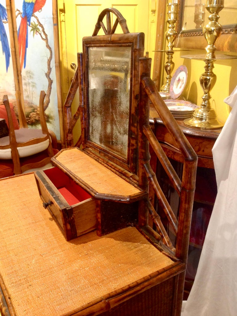 19th Century English Bamboo Cottage Dresser 5