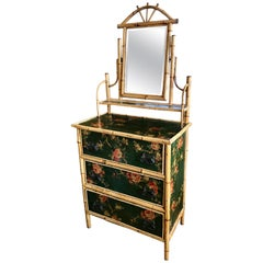 19th Century English Bamboo Ladies Dresser