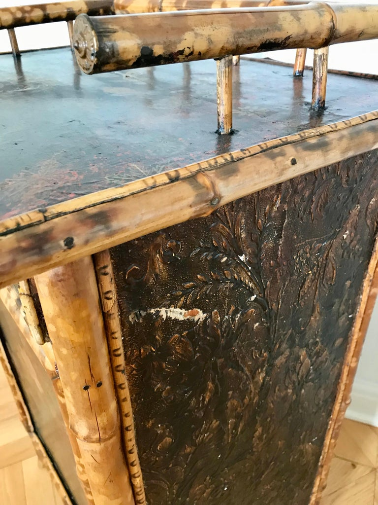 19th Century English Bamboo Side Cabinet For Sale 8