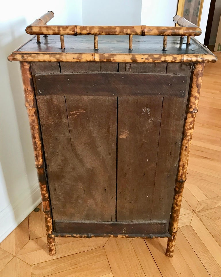 19th Century English Bamboo Side Cabinet For Sale 15