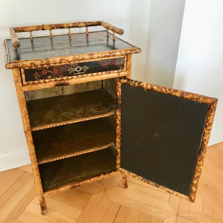 19th Century English Bamboo Side Cabinet For Sale 1