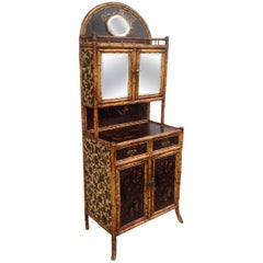 19th Century English Bamboo Side Cabinet