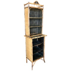 19th Century English Bamboo Tall Bookcase