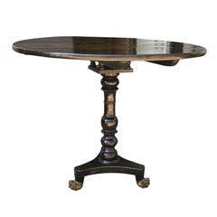 19th Century English Black Chinoiserie Centre Table