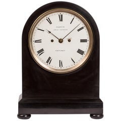 19th Century English Black Slate/ Marble Mantel Clock by James Moore French