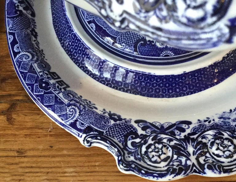 Late 19th Century 19th Century English Blue and White Soup Tureen Copeland