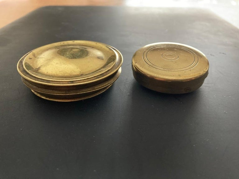 19th Century English Brass Pocket Box Compass For Sale 8