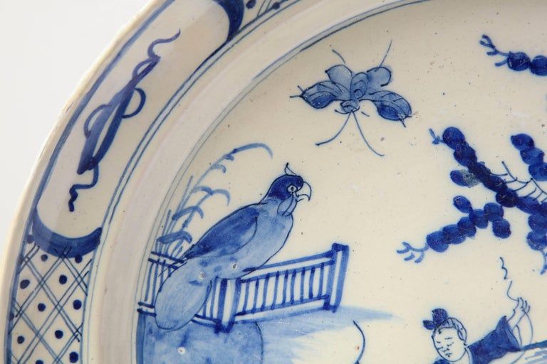 19th Century English, Bristol Platter In Good Condition For Sale In New York, NY