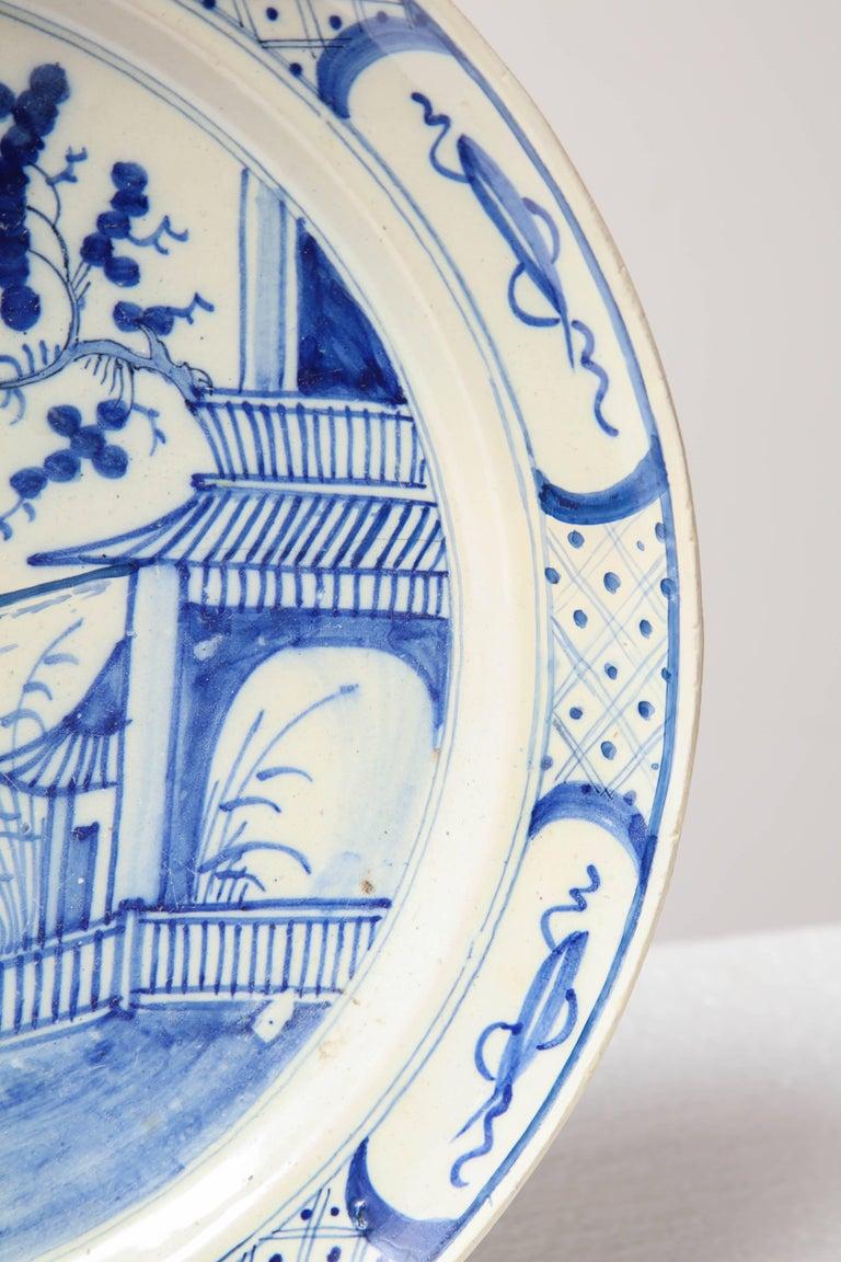 19th Century English, Bristol Platter For Sale 3