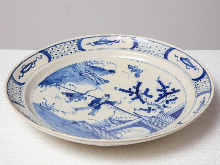 19th Century English, Bristol Platter For Sale 5