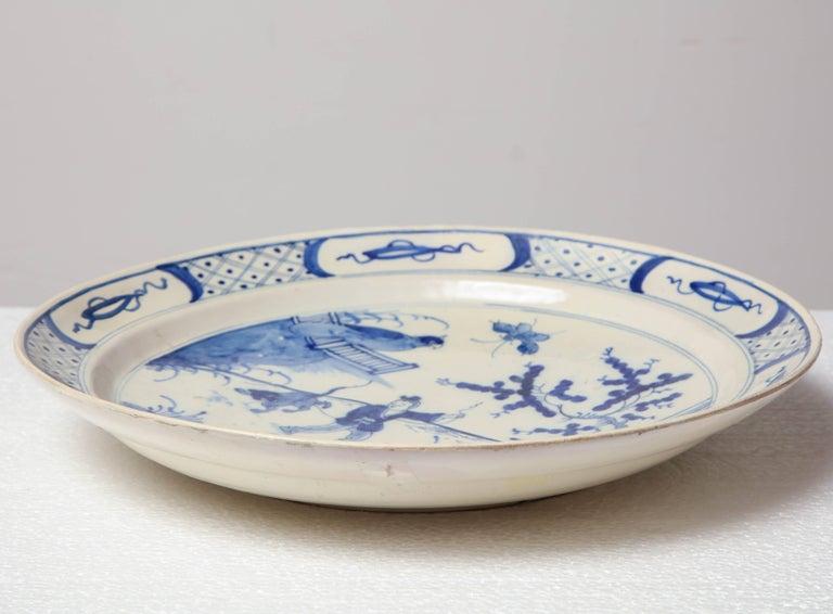19th Century English, Bristol Platter For Sale 6