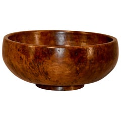 19th Century English Burl Bowl