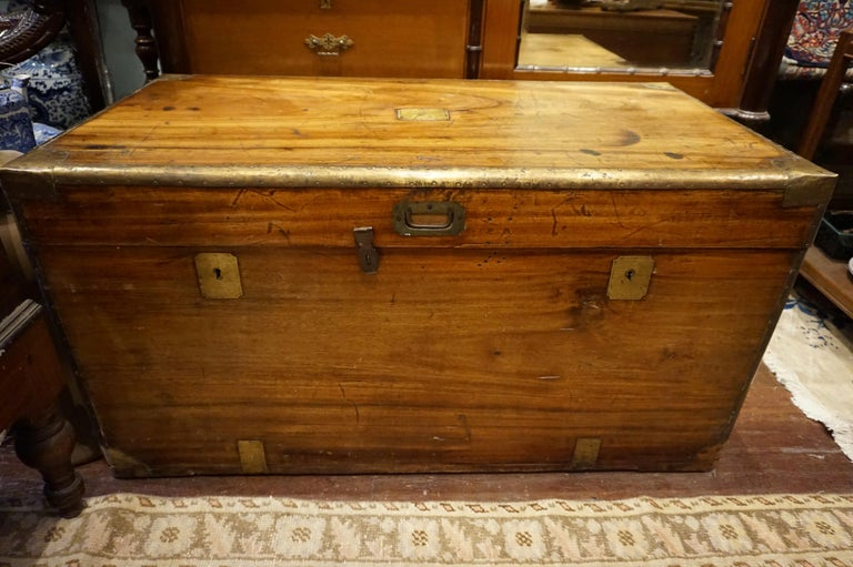19th Century English Camphor Campaign Chest For Sale 4