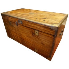 19th Century English Camphor Campaign Chest