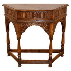 19th Century English Canted Table