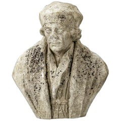 19th Century English Carved Marble Bust