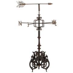 19th Century English Cast Iron Victorian Weathervane