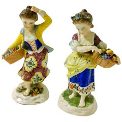 19th Century English Chelsea Style Porcelain Figurine, Pair