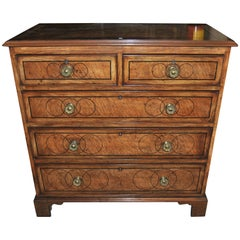 19th Century English Chest of Drawers in Bird's-Eye Maple