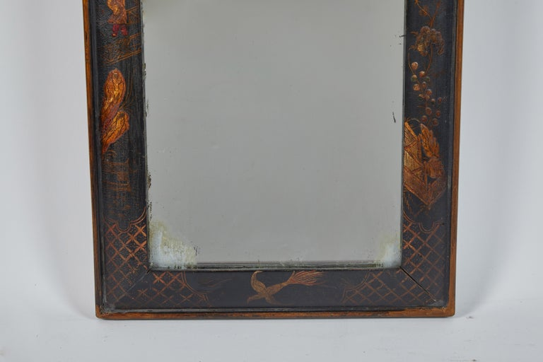 Wood 19th Century English Chinese Chinoiserie Mirror For Sale