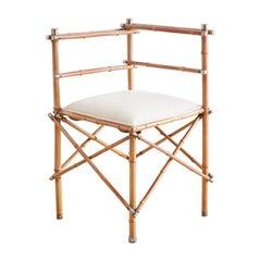 19th Century English Chinoiserie Bamboo Corner Chair