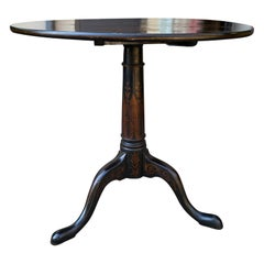 19th Century English Chinoiserie Round Tilt-Top Side Table