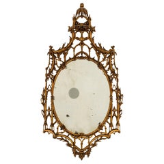 19th Century English Chippendale Giltwood Mirror