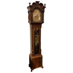 19th Century English Chippendale Long Case Grandfather Clock