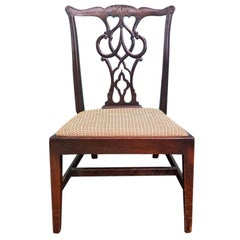 19th Century English Chippendale Style Carved Mahogany Child's Chair
