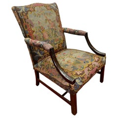 19th Century English Chippendale Style Library Chair