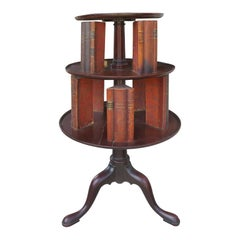 19th Century English Classic Revolving Book Stand, Mahogany