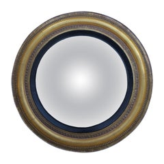 19th Century English Convex Giltwood Mirror