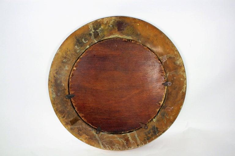 19th Century English Copper Bulls-Eye Convex Mirror For Sale 4